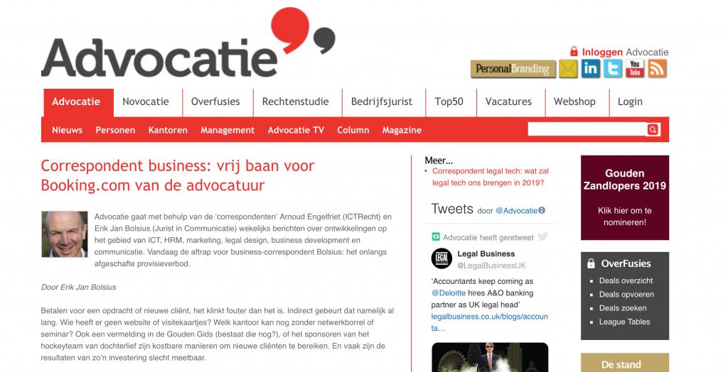 Correspondent business_bijdrage voor Advocatie